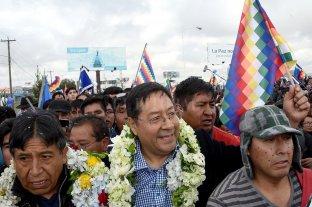 Arce llegó a Bolivia para ponerse al frente de la campaña del MAS