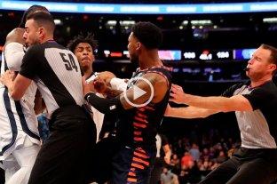 Video: Tras una falta, llegaron los empujones en la NBA