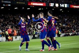 Con dos goles de Messi, Barcelona goleó y se clasificó a los cuartos de final de la Copa del Rey
