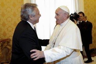 """El Papa a Alberto Fernández: """"Sean mensajeros de la paz"""""""