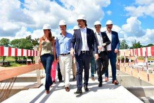 Cafiero y Gustavo Bordet visitaron obras en Concordia