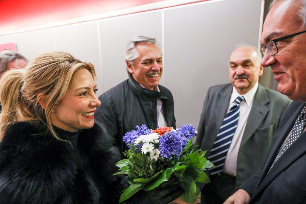 La llegada del presidente a Berlín <br /> <strong>Foto:</strong> Gentileza