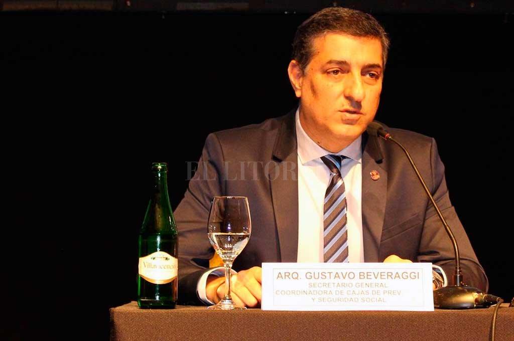 Gustavo Beveraggi, secretario general de la Coordinadora de Cajas de Previsión para Profesionales. <strong>Foto:</strong> Archivo El Litoral
