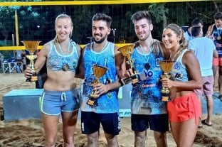 Cerrito tiene nuevos campeones de beach voley