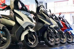 Fuerte caída en el patentamiento de motos