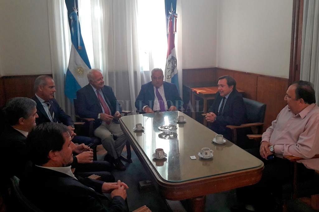 Gutiérrez y Spuler recibieron al Colegio de Magistrados y al Sindicato de Trabajadores Judiciales.  <strong>Foto:</strong> Gentileza.