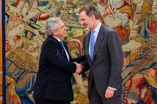 Alberto Fernández se reunió con el Rey Felipe VI