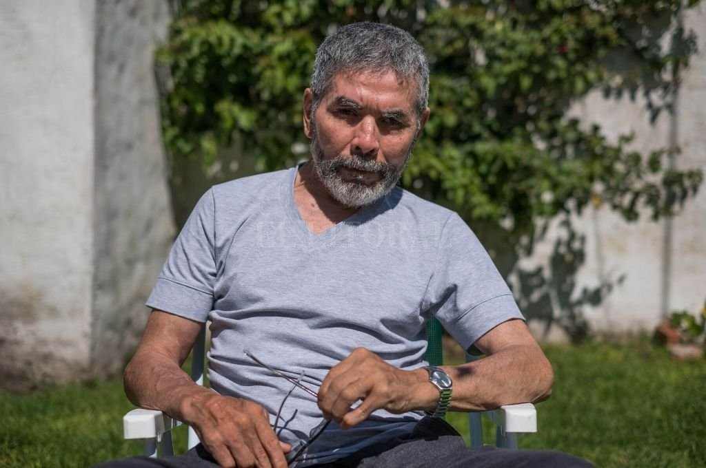 No se rinde. Con la determinación que mostraba en el ring, Sergio Víctor Palma pelea a diario contra la enfermedad de Parkinson. Crédito: Gentileza de Télam.