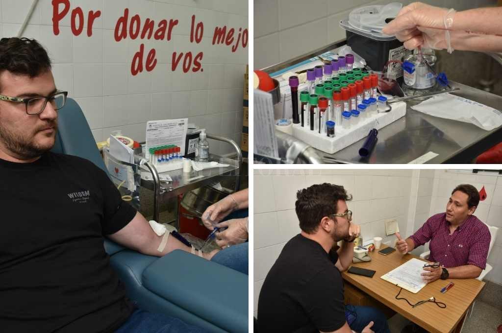 La extracción tuvo lugar en el banco de Sangre del Hospital Cullen, al que se accede por calle Lisandro de la torre. <strong>Foto:</strong> Guillermo Di Salvatore.