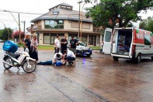 Motociclista lesionado tras choque en Av. Galicia