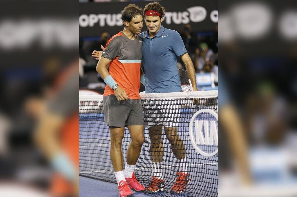 Colosos del deporte. Rafael Nadal y Roger Federer. Los actuales número 2 y 3 del mundo, se unen para colaborar con diferentes proyectos educativos del continente africano.   <strong>Foto:</strong> Archivo El Litoral