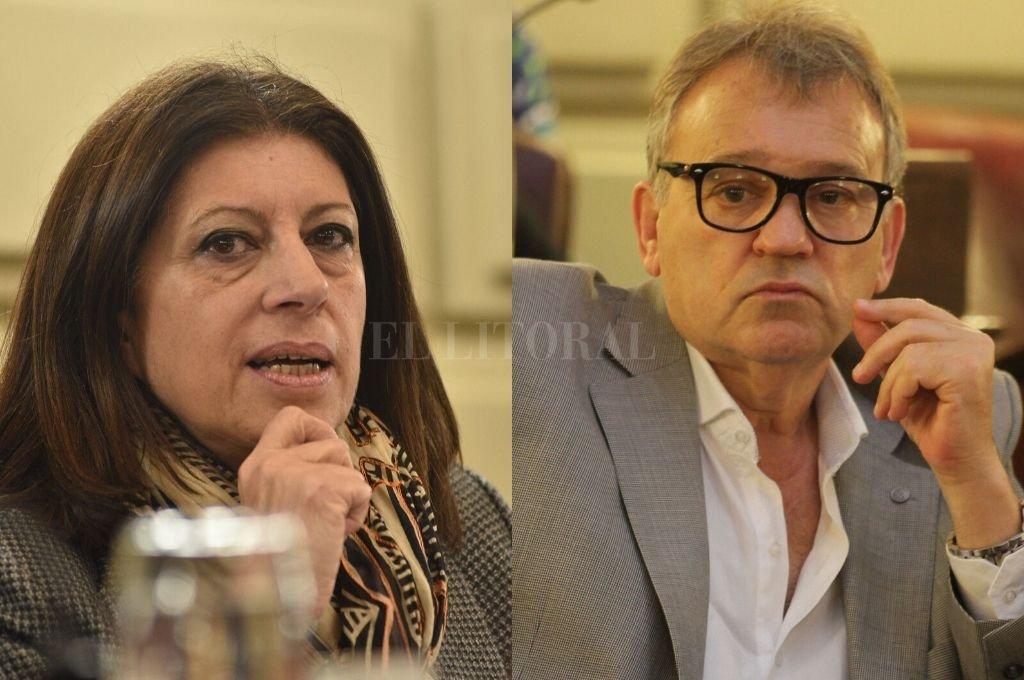 Clara García (PS) y Gabriél Real (PDP), diputados provinciales del FPCyS. <strong>Foto:</strong> Luis Cetraro