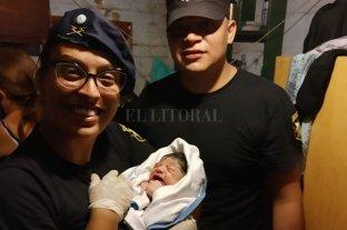 Feliz intervención de policías en un parto