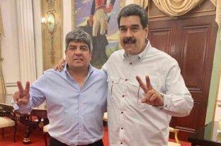Pablo Moyano se reunió con Maduro en Venezuela