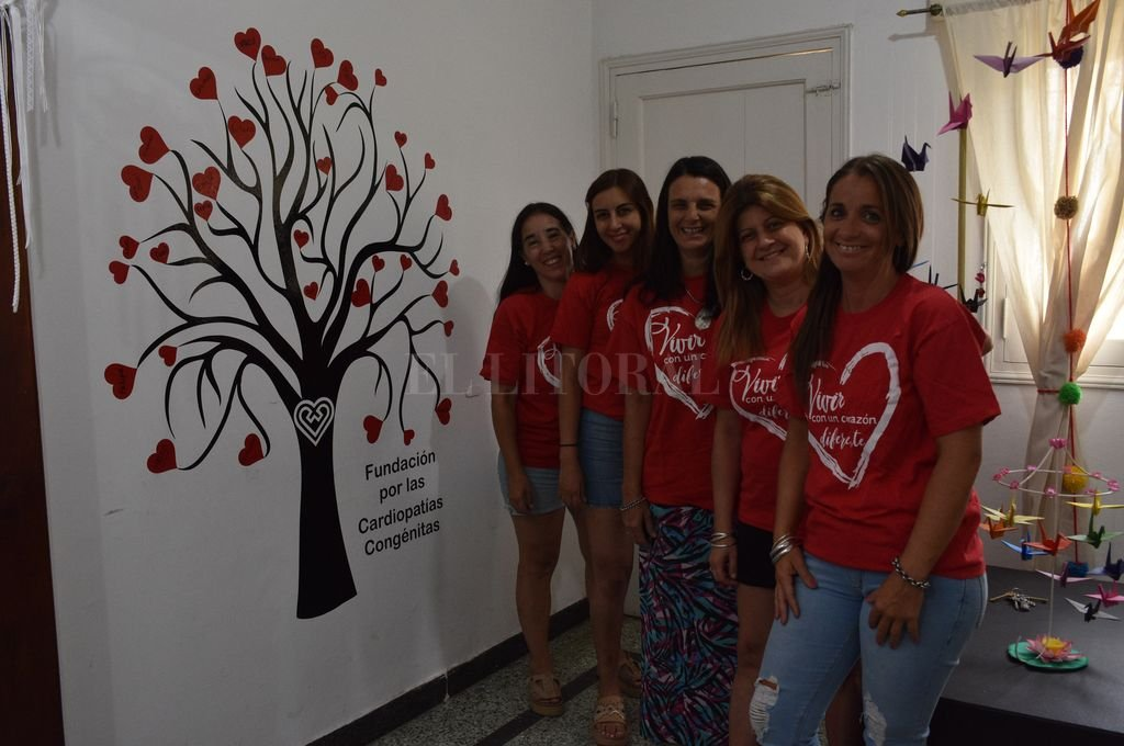 Fundación. Las voluntarias remarcaron la importancia de la detección pre-natal de la cardiopatía congénita.  Crédito: Mauricio Garín