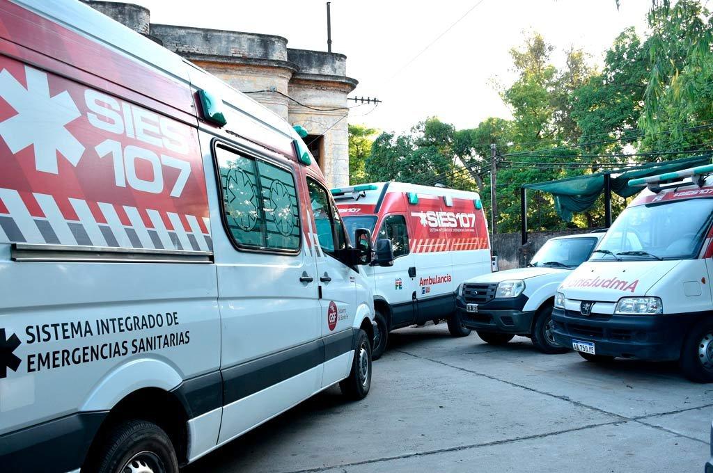 107. El servicio de emergencias santafesino tiene más de 400 ambulancias a lo largo y a lo ancho de toda la provincia.  <strong>Foto:</strong> Archivo - El Litoral