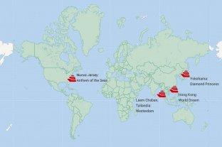 Hay más de 5.000 personas en cuarentena dentro de cruceros
