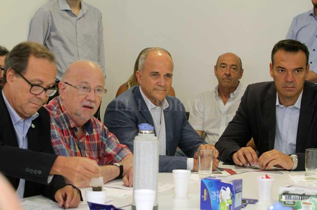 Renato Franzoni, titular de la CAC Santa Fe, encabezó la delegación. <strong>Foto:</strong> Mauricio Garín