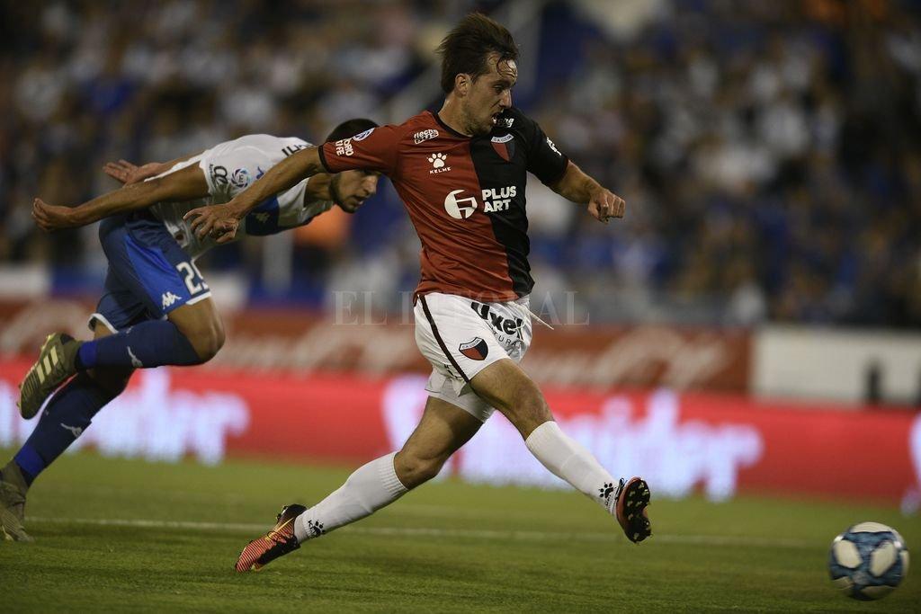 Cristian Beranardi ante Vélez marcó el último gol Sabalero <strong>Foto:</strong> Archivo El Litoral