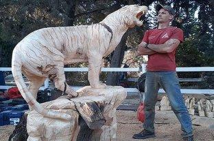 Tomas Franzoi, el artista santafesino que sorprende con sus esculturas de madera