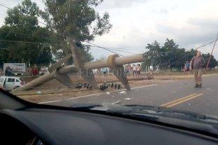 Un violento accidente en la Ruta 1 afectó el servicio de energía eléctrica -