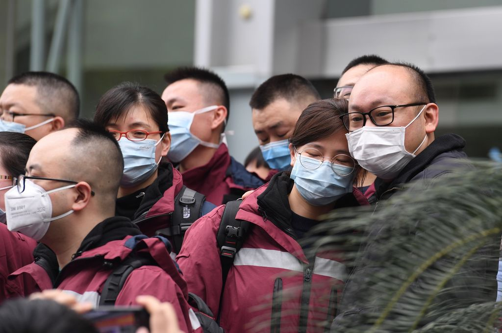 """Alta. El argentino que fue internado en Japón por contagio de coronavirus a bordo de un crucero amarrado y en cuarentena en el sur de ese país, """"no tiene más el virus"""" ya que dio """"negativo"""" el último test, informaron este domingo a Télam fuentes del Ministerio de Salud de la Nación. Crédito: Jiang Kehong (Xinhua)."""