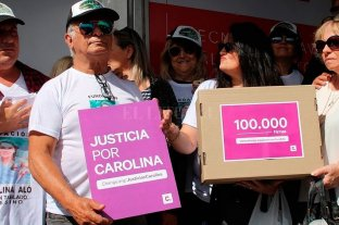 El papá de Carolina Aló entregó las 100.000 firmas a la Justicia de San Isidro