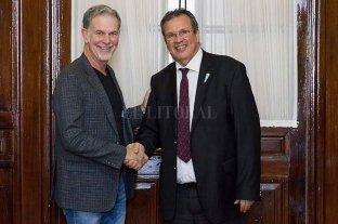 El ministro Tristán Bauer recibió al director de Netflix