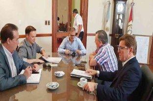 Borla, Michlig, Enrico y Marcón fueron recibicos por el ministro Borgonovo