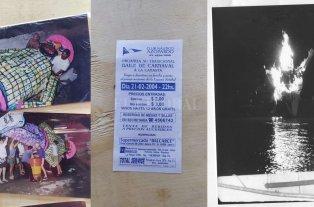 El Club Azopardo recobra su carnaval - A lo largo de las décadas, la celebración del carnaval del Club Náutico Azopardo dejó numerosas postales, que se vinculan sobre todo con la quema del Rey Momo.  -