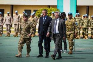 """Rossi destacó el """"empeño y sacrificio"""" del contingente militar que viajará a Chipre en una misión de paz"""