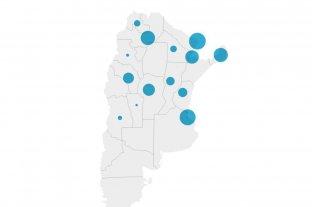 Mapa: los casos de dengue en Argentina -  -