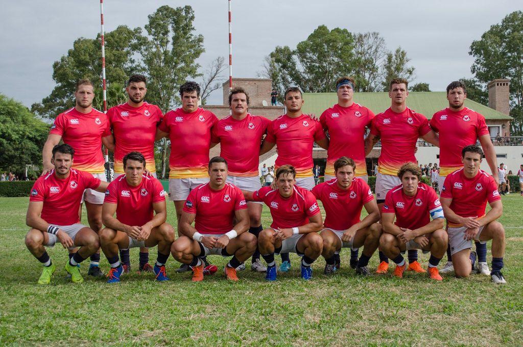 Ceibos Rugby. La alineación que inició el encuentro desarrollado en el Jockey Club de Córdoba. Crédito: Prensa Ceibos