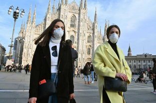 Coronavirus: Ascienden a cinco los fallecidos en Italia