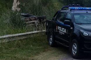 Volcó un móvil policial en Circunvalación oeste