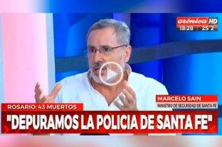 """Marcelo Saín: """"Vine a descansar a Buenos Aires porque si me quedo allá me cagan a tiros"""" -  -"""
