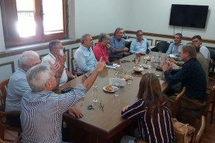 Buscan acercamientos para votar la ley de Necesidad Pública  - Traferri encabezó la reunión de los senadores justicialistas con los ministros Borgonovo y Michlig, una de las varias realizadas ayer en Legislatura. -