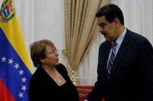 """Bachelet reclamó a Maduro la liberación de """"todas las personas detenidas por motivos políticos"""""""