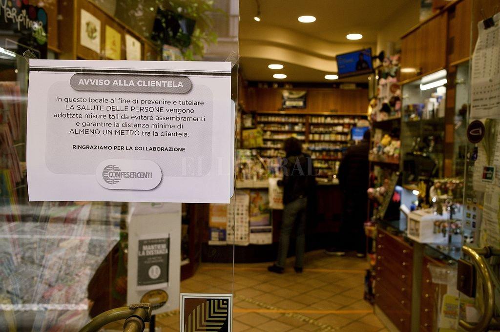 El gobierno italiano está en alerta máximo por el coronavirus. Crédito: Telam