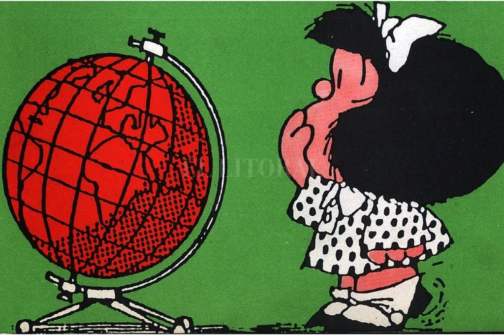 """""""Paren el mundo, me quiero bajar"""", decía Mafalda en la historieta del gran humorista argentino Quino hace más de 50 años.  Crédito: Archivo El Litoral"""