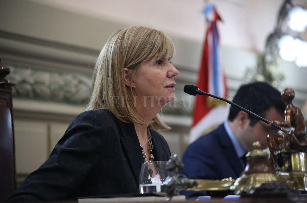 Alejandra Rodenas  Crédito: Gentileza Senado de la Provincia de Santa Fe