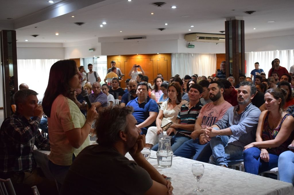"""Plenario del espacio socialista """"Fuerza del Territorio"""". Crédito: Prensa Mondino"""