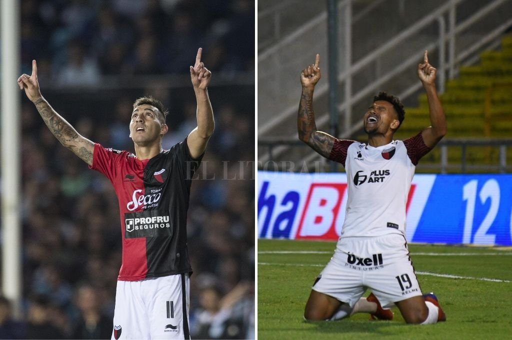 Correa y Morelo, festejando de la misma manera sus goles frente a Racing y Central respectivamente. Crédito: Archivo