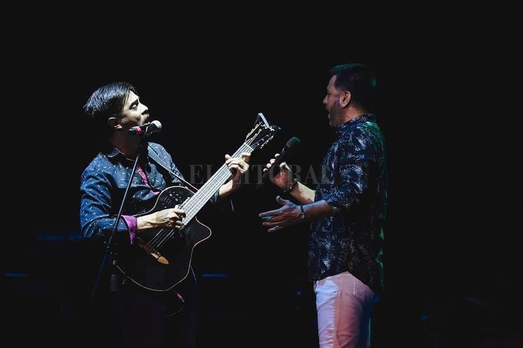 """""""Jorge no sólo es un padrino y uno de los grandes productores de la música argentina sino también una persona que te escucha, te abre la puerta y te deja volar"""", confiesa Colombo. Crédito: Gentileza producción"""