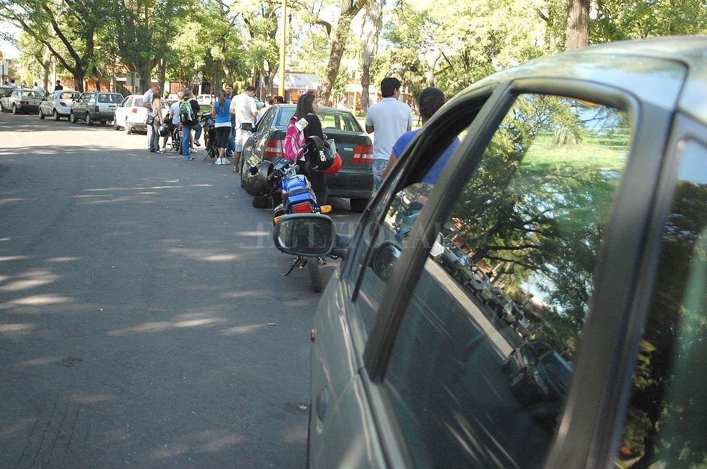 Pista de examen en el Parque Garay. Crédito: Archivo El Litoral
