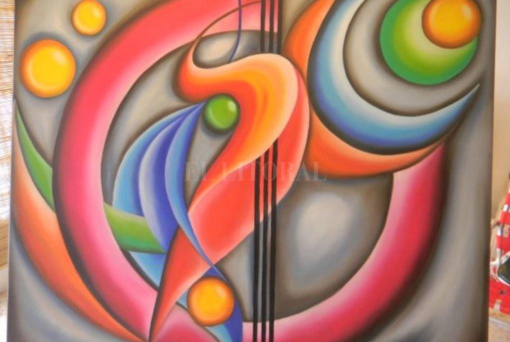 """""""Colibríes en la Luna"""", óleo sobre tela de María Alejandra Torelli; una de las obras que se pueden recorrer en la muestra virtual. Crédito: Gentileza Defensoría del Pueblo"""