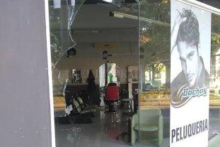 Vandalismo en una peluquería santafesina