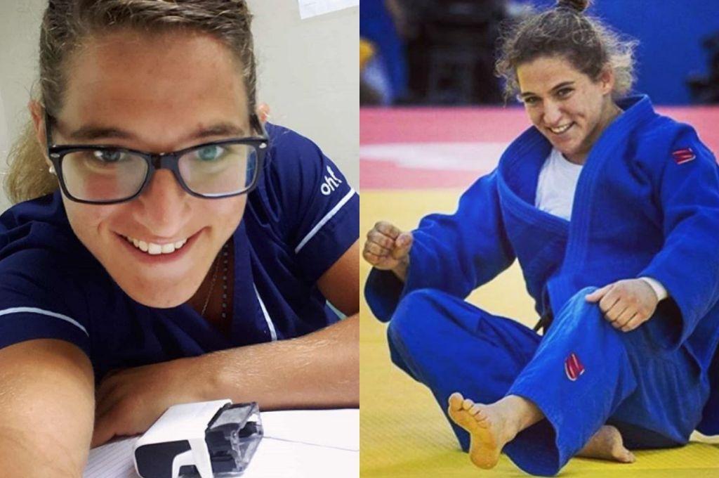 Paula Pareto, a la vez médica y judoka.   Crédito: Redes sociales