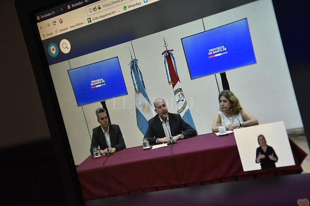 Por videoconferencia en streaming vía redes sociales y con tiempo de preguntas limitado como forma preventiva, la modalidad que se implementa para los informes  Crédito: Pablo Aguirre