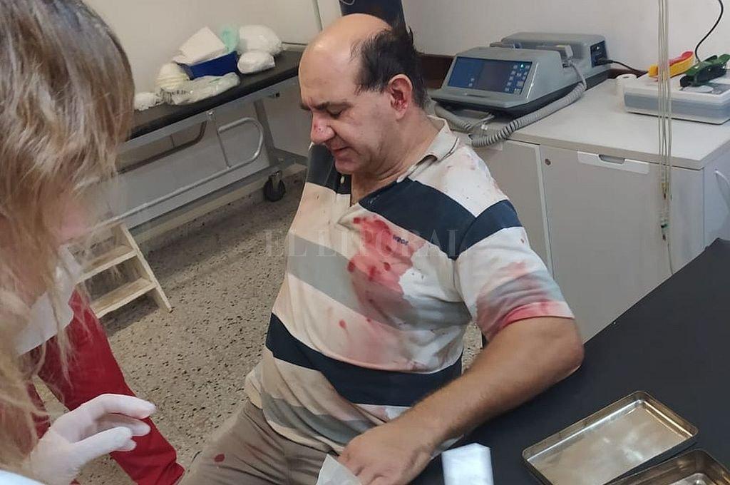 Marcelo Cerutti fue víctima de una brutal paliza el domingo pasado, cuando se encontraba en su almacén  Crédito: Gentileza
